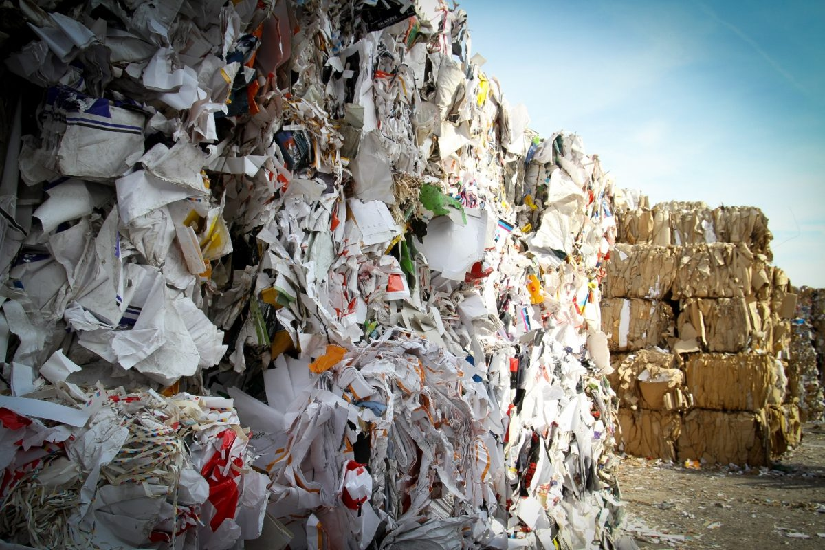 How to recycle paper